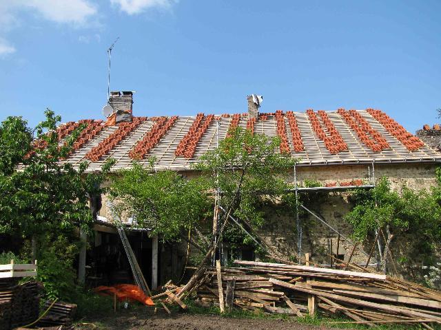 touw ladder dak leggen